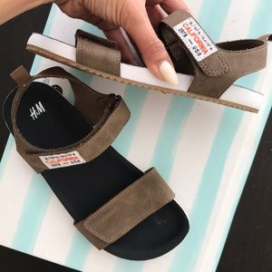 H&M sandals for a boy!